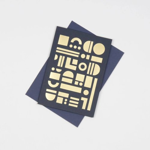 Tom Pigeon Artefact Cards Brass - Navy