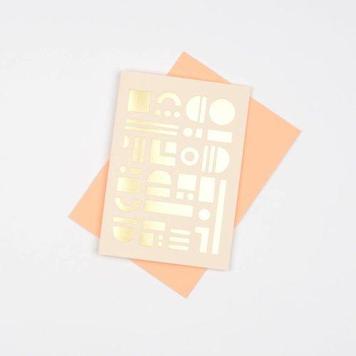 Tom Pigeon Artefact Cards Brass - Nude