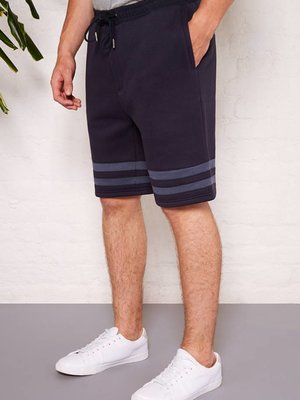 HYMN London 'AGASSI' Navy Stripe Jersey Short
