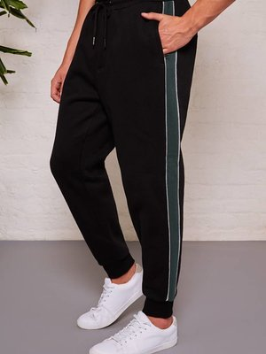 HYMN London 'BECKER' Black Side Panel Jogger