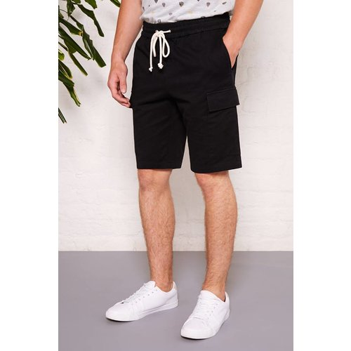 HYMN London 'CARGO' Black Drawstring Shorts