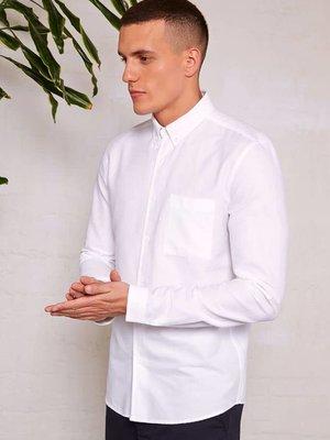 HYMN London 'KEEGAN' Textured White Shirt - Small