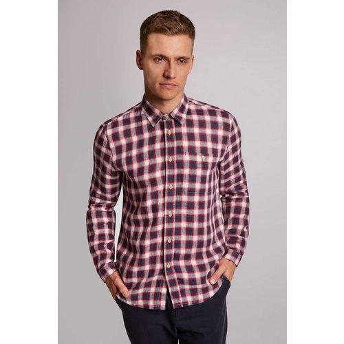 HYMN London 'ALFRESCO' Cotton/Linen Check Shirt - Small