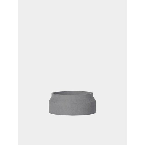 ferm LIVING Concrete Plant Pot - Dark Grey - Small