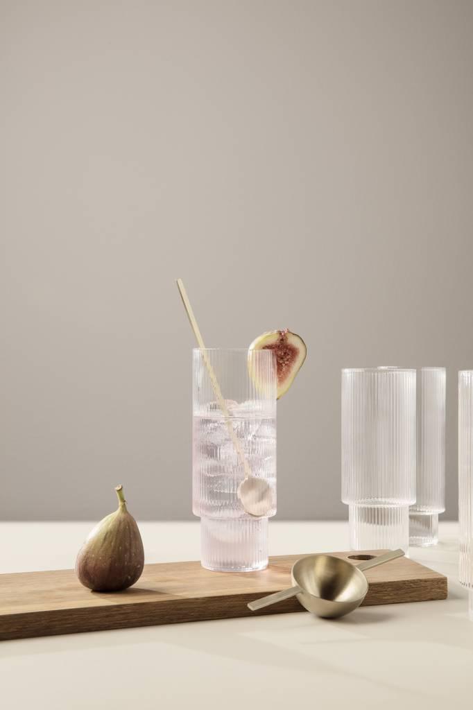 ferm LIVING ferm LIVING Ripple Tall Glass (Set of 4)