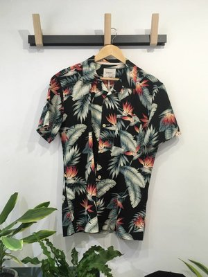 HYMN London 'BERT' Tropical Plant Print Resort Shirt - Small