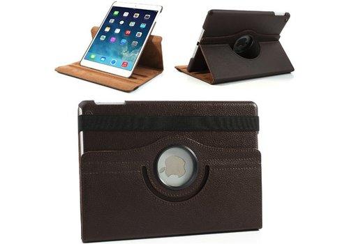Apple iPad Air 2 (iPad 6) - 360 graden draaibare Hoes - Kleur Bruin