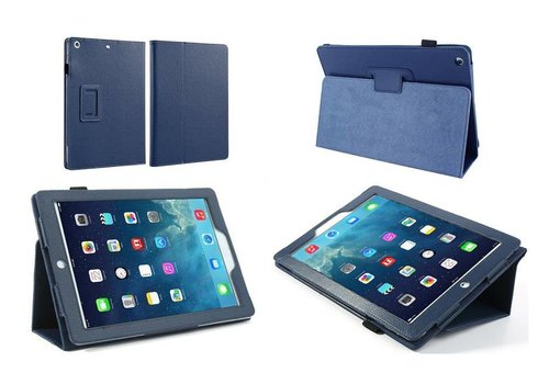 Apple iPad 2 / 3 / 4 - Book Case Hoes - Blauw