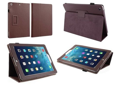 Apple iPad 2 / 3 / 4 - Book Case Hoes - Bruin
