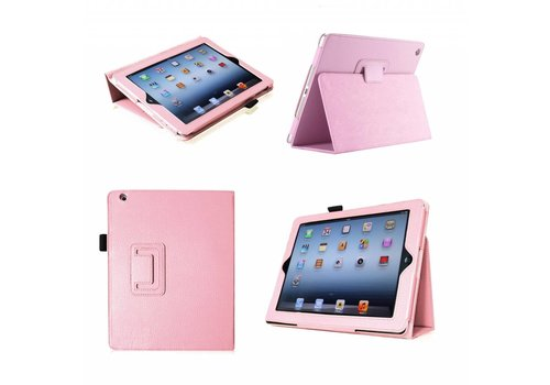 Apple iPad 2 / 3 / 4 - Book Case Hoes - Roze