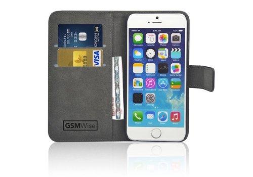 Zwart PU lederen Portemonnee hoesje iPhone 6/6S