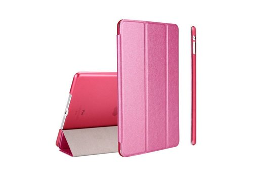 Apple iPad 2 / 3 / 4 - Zachte Zijden Design Tablet Cover - Hot Pink