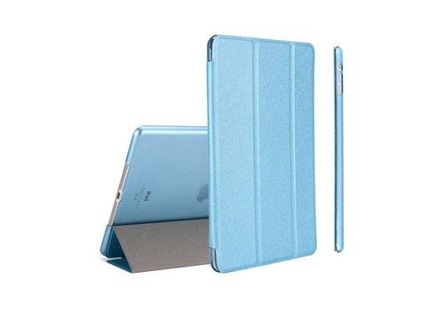 Apple iPad Air 2 (iPad 6) - Zachte Zijden Design Tablet Cover - Aqua Blauw