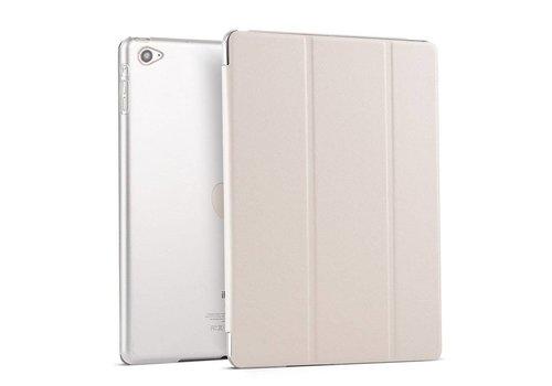 Apple iPad Mini 4 -  Zachte Zijden Design Tablet Cover - Wit