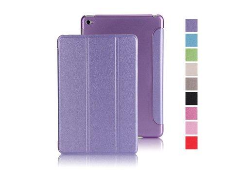 Apple iPad Mini 4 -  Zachte Zijden Design Tablet Cover - Paars