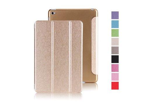Apple iPad Mini 4 -  Zachte Zijden Design Tablet Cover - Goud