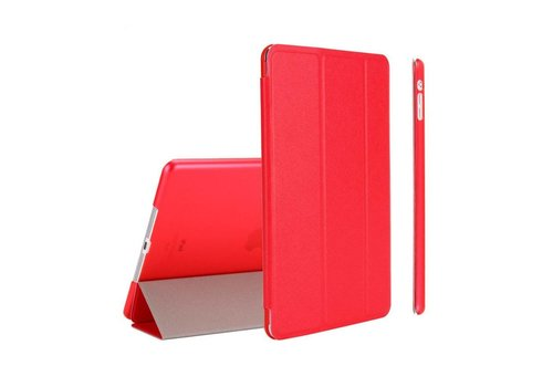 Apple iPad Mini 4 -  Zachte Zijden Design Tablet Cover - Rood