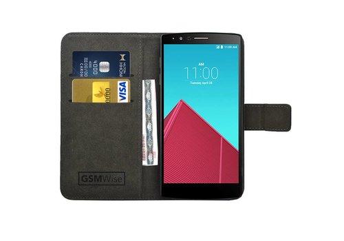 Zwart PU lederen Portemonnee hoesje LG G4