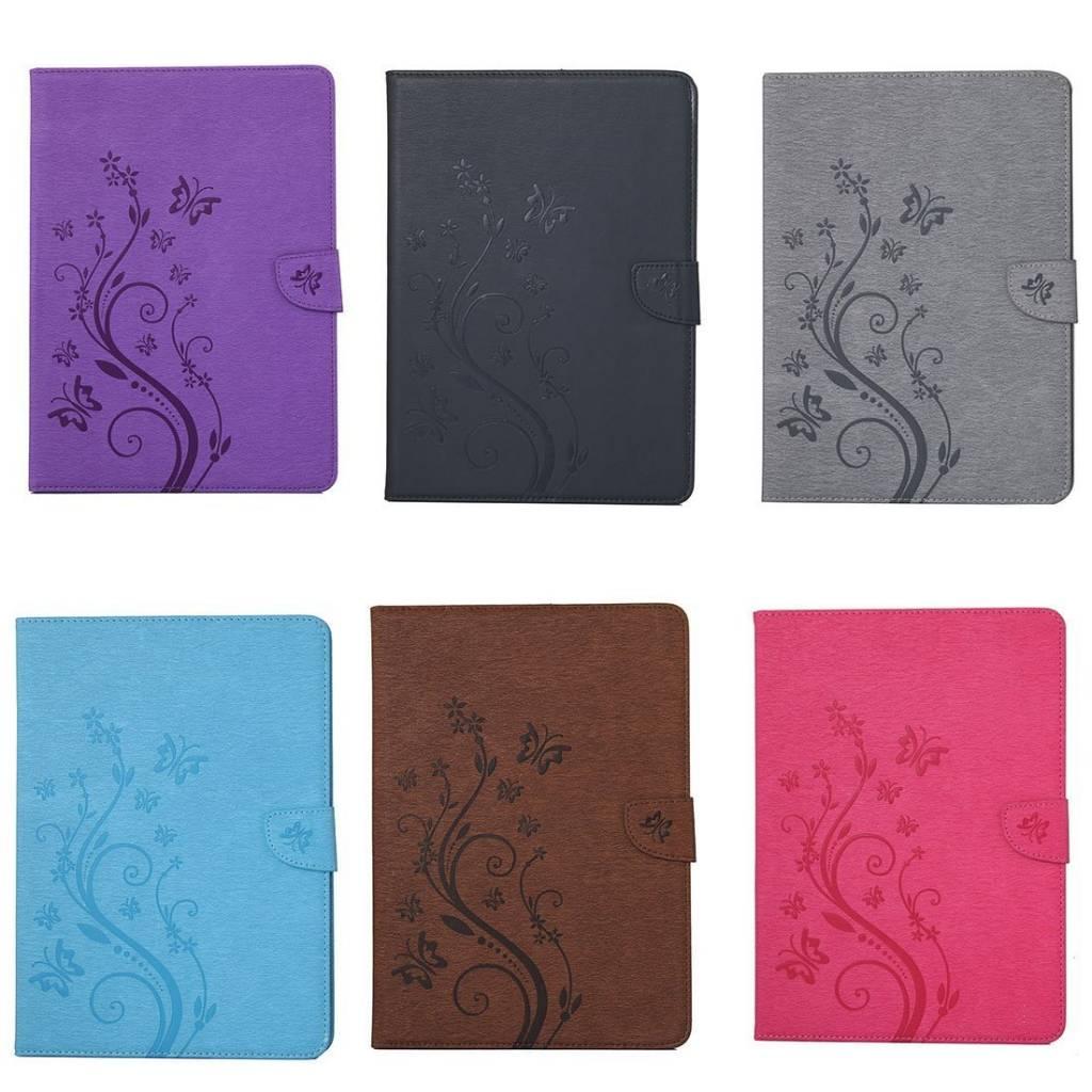 Afbeelding van Apple iPad 2 / 3 / 4 - Creatieve Tablet Hoes met Bloemen Design voor bescherming voor- en achterkant - Kleur Blauw