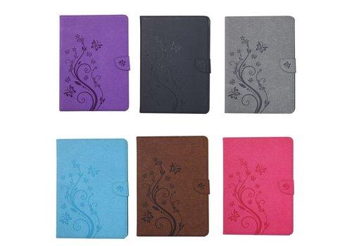 Apple iPad Air 1 (iPad 5) - Creatieve Tablet Hoes met Bloemen Design - Bruin