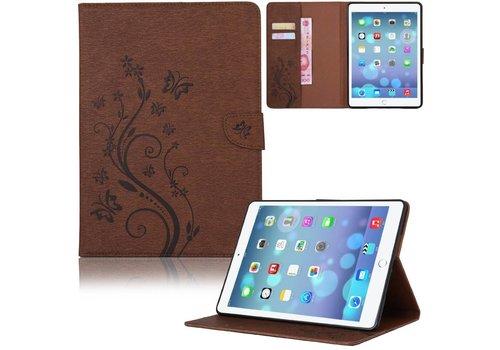 Bruin Creatieve Tablet Hoes met Bloemen Design iPad Air 2 (iPad 6)