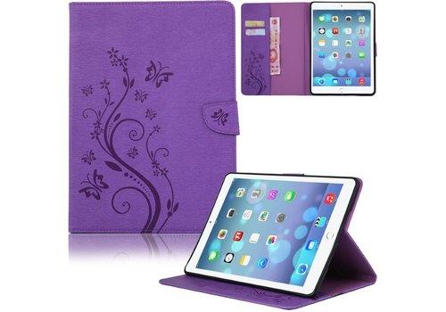 Paars Creatieve Tablet Hoes met Bloemen Design iPad Air 2 (iPad 6)