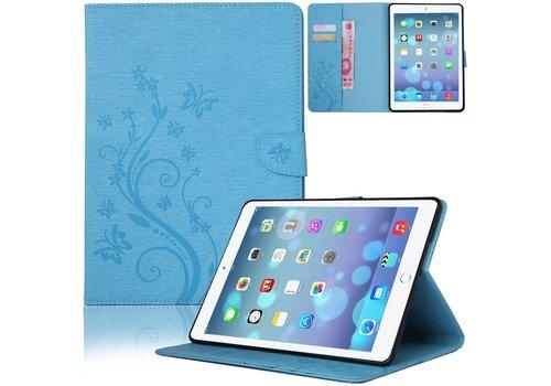 Blauw Creatieve Tablet Hoes met Bloemen Design iPad mini 1 / 2 / 3