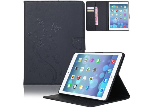 Zwart Creatieve Tablet Hoes met Bloemen Design iPad mini 1 / 2 / 3