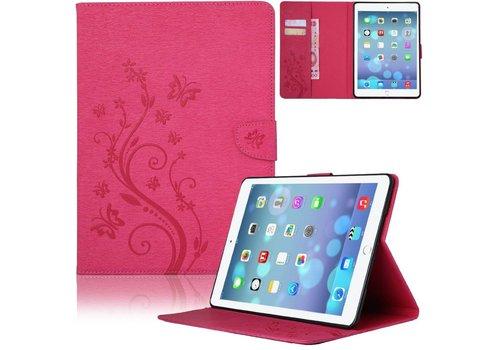 Roze Creatieve Tablet Hoes met Bloemen Design iPad mini 4