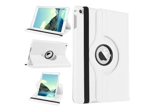 Apple iPad Mini 1 / 2 / 3 - 360 graden draaibare Hoes - Kleur Wit