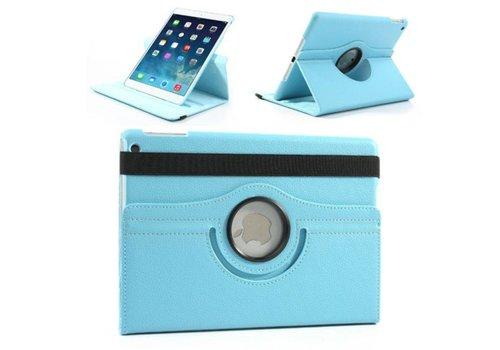 Apple iPad Mini 1 / 2 / 3 - 360 graden draaibare Hoes - Kleur Aqua Blauw