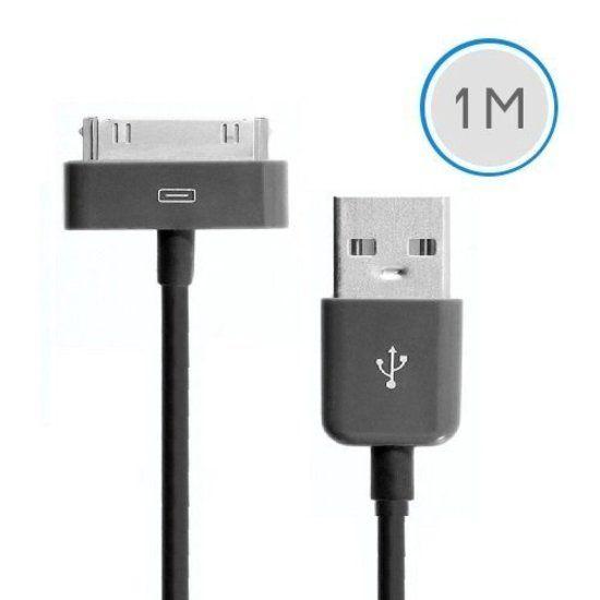Afbeelding van 1 meter 30-pins USB oplaad data kabel voor Apple iPhone 3GS/4/4S iPad 1/2/3 en iPod - zwart
