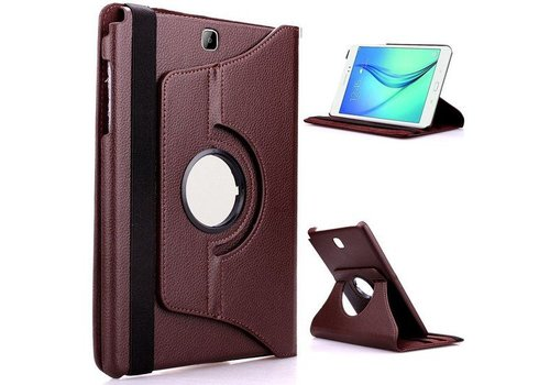 Samsung Galaxy Tab S2 9.7 T810 / T815 Swivel Case 360 graden Draaibare Beschermhoes Tablethoes Cover Hoes met Multi-stand - Kleur Bruin