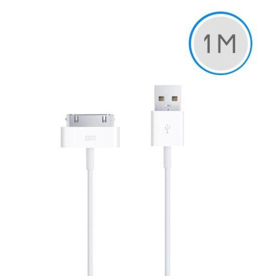 Afbeelding van 1 meter 30-pins USB oplaad data kabel voor Apple iPhone 3GS/4/4S iPad 1/2/3 en iPod - wit