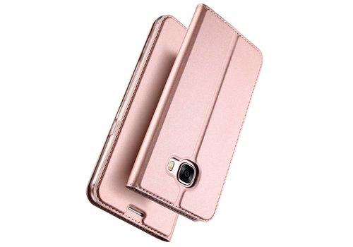 Samsung Galaxy A5 (2017) PU lederen Bookcase Hoesje met Kaarthouder - Rose Goud