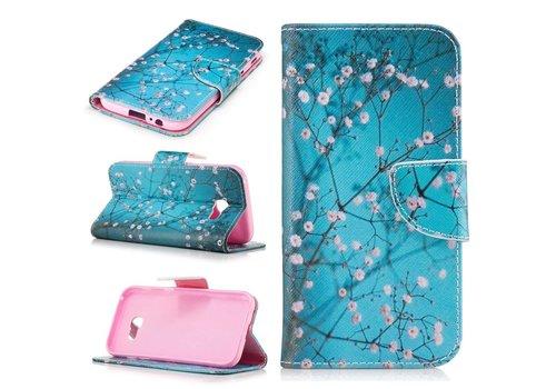 Samsung Galaxy A5 (2017) PU lederen Portemonnee Hoesje met Kaarthouder - Blooming Flowers Design