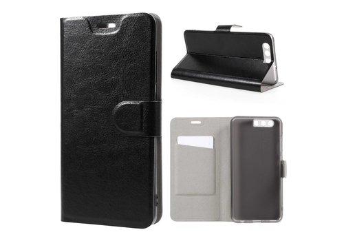 Huawei P10 Plus - Portemonnee Hoesje Wallet Case - Zwart