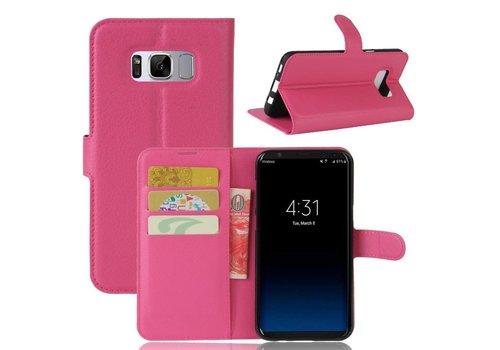 Cuir Rose Cas Tpu Pour Samsung Galaxy S8, Plus