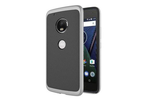 Motorola Moto G5 - Carbon Fiber Textuur Back Cover Hardcase - Grijs