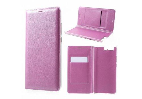 Huawei P10 Plus - Portemonnee Hoesje Wallet Case Met Pashouder - Roze