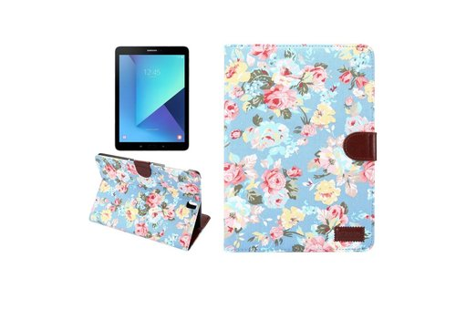 360 ° Papillons Pivotants Cas De Comprimés De Conception Florale Pour Samsung Galaxy Tab 9.7 S2 FtzP404ax