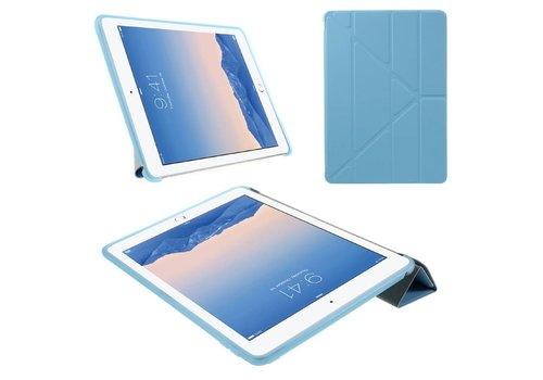 Apple iPad Air 2 - PU lederen Tablet Case Origami Stand - Blauw