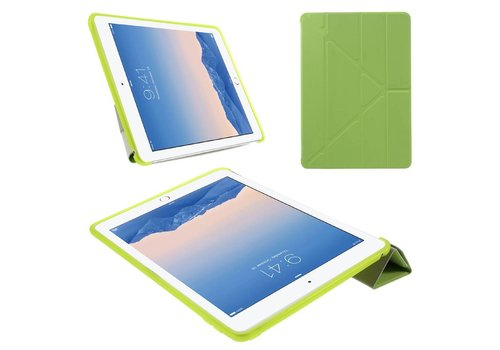 Apple iPad Air 2 - PU lederen Tablet Case Origami Stand - Groen