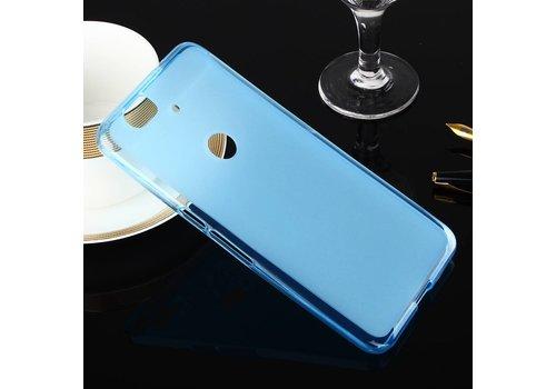 Huawei Nexus 6P - Zachte Frosted TPU Hoesje Anti-slip Back Case - Mat Blauw