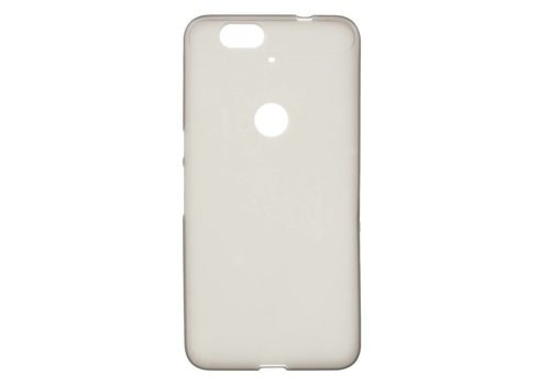 Huawei Nexus 6P Hoesje - Zachte Frosted TPU Anti-slip Back Case - Mat Donker Grijs