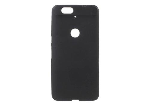 Huawei Nexus 6P Hoesje - Zachte Frosted TPU Anti-slip Back Case - Mat Zwart