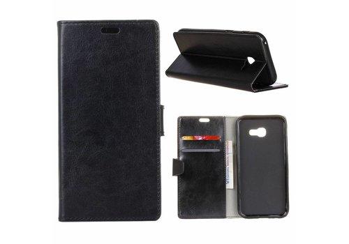 Samsung Galaxy Xcover 4 - PU Lederen Portemonnee Hoesje met Kaarthouder - Zwart
