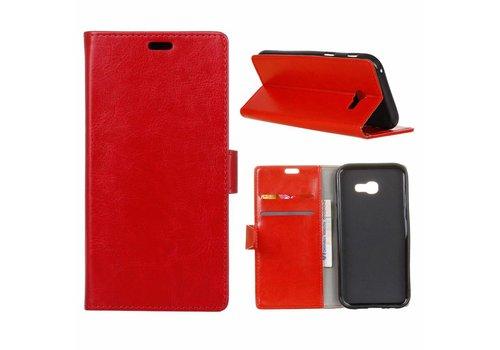 Samsung Galaxy Xcover 4 - PU Lederen Portemonnee Hoesje met Kaarthouder - Rood