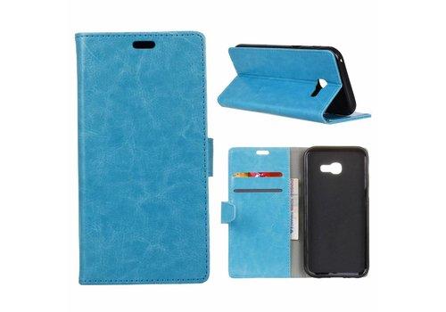 Samsung Galaxy Xcover 4 - PU Lederen Portemonnee Hoesje met Kaarthouder - Blauw