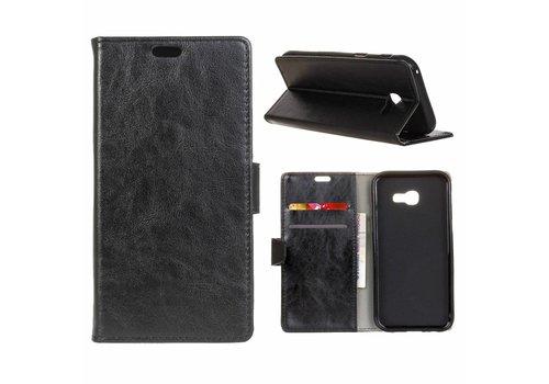 Samsung Galaxy Xcover 4 - PU Lederen TPU Portemonnee Hoesje met Kaarthouder - Zwart